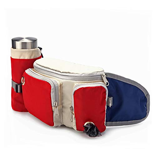 Unbrander Hundeleckerli-Beutel für Welpentraining, mit verstellbarem Gürtel, Haustier-Leckerli-Tasche mit integriertem Kotbeutel-Spender
