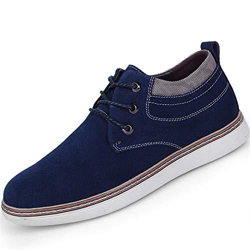Comfortabel en ontspannen Fashion Sneakers for mannen Athletic Sports lift schoenen Lace Up Faux suède Hoogte Toenemende Antislip Zool hjm (Color : Red, Size : 39 EU)