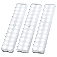 【 SUPER BRIGHT 】-- 3 Packs of 24 pure white ( 150LM ) & energy saving LEDs, brightness and comfortable to illuminate dark spaces. 【 EASY TO INSTALL 】-- Built in strong magnetic, this light can be adsorbed directly on any iron product, OR installed by...