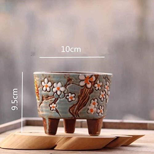 PINGS Horticulture Korean Fleshy Mini Cute Flower PotFarbe Handbemalte Fleischtopf, Burgund