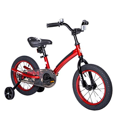 "Mobo First Bike with Training Wheels. 14"" Toddler Bicycle for 3-5 Year Olds, Red"