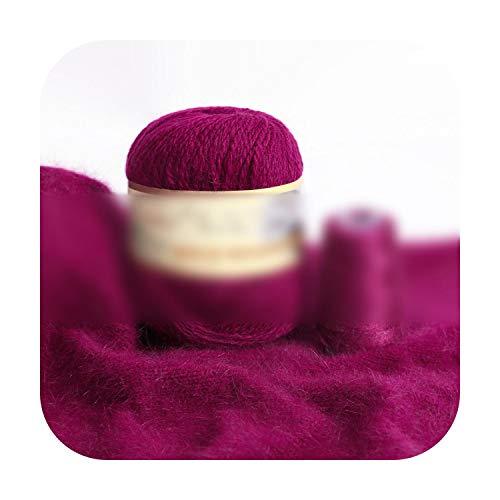 who-care Fashion - Hilo de mezcla de cachemira de visón para ganchillo, cárdigan bufanda, suave, 50 g + 20 g H854