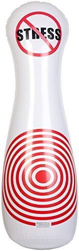PEARL Aufblasbarer Boxsack: Aufblasbarer Soft-Punching-Ball, Kegelform, Anti-Stress-Design, 145 cm (Standboxsack)