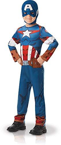 Rubies - Déguisement Classique Officiel - Captain America Serie Animée Marvel, enfant, I-640832L, Taille L 7 à 8 Ans