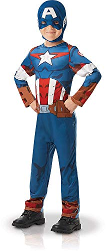 Rubie 's 640832l Offizielles Marvel Avengers Captain America Classic Kind costume-large Alter 7–8, Höhe 128 cm, Jungen, one size