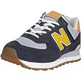 New Balance NB 574 Zapatillas, gris/amarillo, 45 EU
