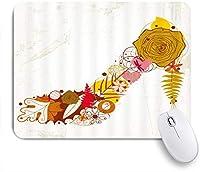 EILANNAマウスパッド ハイヒールの花と葉の抽象 ゲーミング オフィス最適 高級感 おしゃれ 防水 耐久性が良い 滑り止めゴム底 ゲーミングなど適用 用ノートブックコンピュータマウスマット