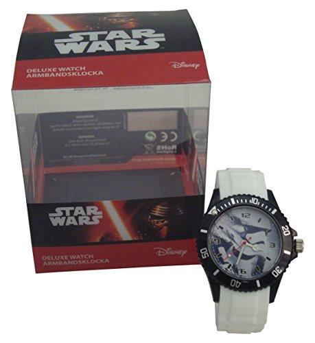 Desconocido Imagine81744–Reloj Deluxe Star Wars, Color Blanco