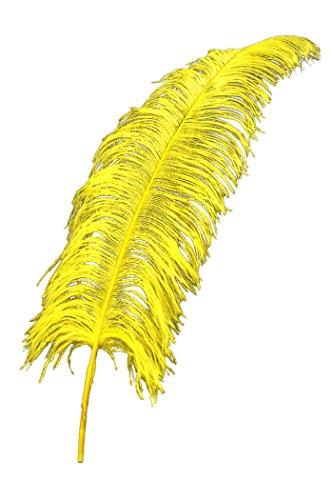PARTY DISCOUNT ® Straußenfeder, 50-60cm, gelb PREISHIT