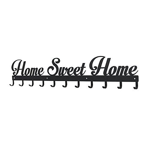 Garderobe Home sweet Home Extra Groß 11Haken Wand montiert schwarz W: 80cm Home Accessories by semUp