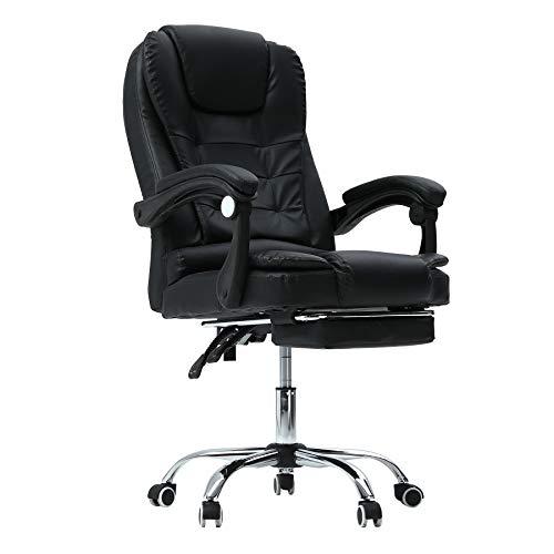 CO-Z Massage Chefsessel Bürosessel Bürostuhl Schreibtischstuhl Drehstuhl Gaming Stuhl Massage Sessel mit Massagefunktion Höhenverstellbarer Gamer Stuhl (mit Fußstütze)
