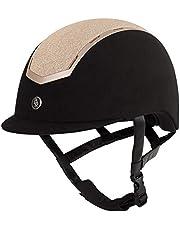 BR Sigma - Casco de equitación (microfibra), color negro