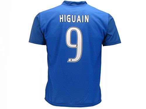 Juventus - Camiseta técnica para niño Higuain, número 9, réplica azul, oferta lanzamiento, producto (azul, años - 6)
