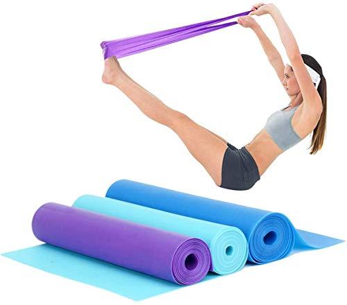 Cymax Set di 3 Bande Elastiche in Gomma con 3 Livelli di difficoltà Diversi,da 150 x 15 cm, Bande di Resistenza per Yoga, Fitness Glutei,Pilates, Ginnastica riabilitativa, Esercizi di Fisioterapia