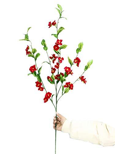 Kunstbloemen Kunstbloem kersen bloem woonkamer tafel raamdecoratie bloem vaas bloem decoratie nep bloem Bloem Producten inclusief: Kunstbloemen