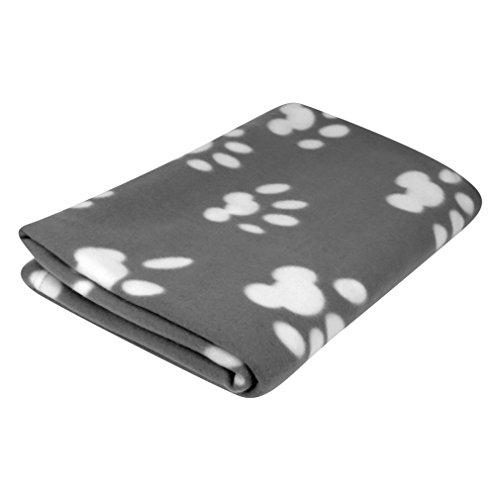 Evelots Fleece Pet Blanket, Gray/White, 60x40 '
