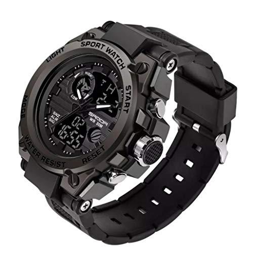 Relógio Masculino Sanda Militar e Esportivo de Led Display Duplo Analógico e Digital Muito Elegante