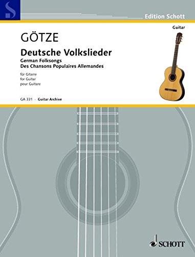 Deutsche Volkslieder: Gitarre. (Edition Schott)