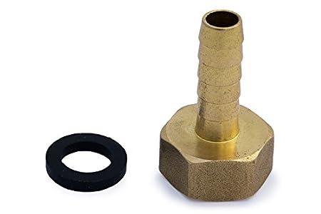Conector de manguera de latón macizo de conexión de alambre de púas a conector de rosca para estanque/manguera adaptador