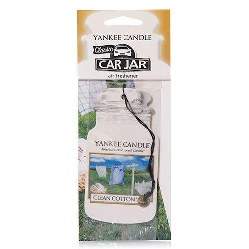 YANKEE CANDLE - Candela profumata per Auto, fragranza Biancheria profumata