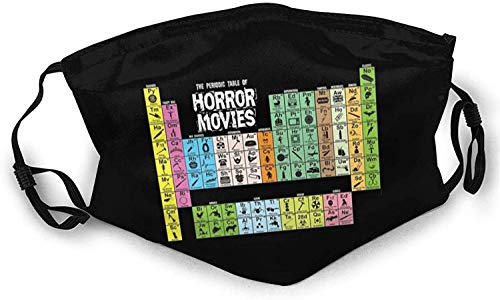 Periodic Table of Horror Movies Mask Ew People Winter 3D Face Mask Cotton Washable Designer