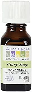 Aura Cacia Essential Oil, Balancing Clary Sage, 0.5 fluid ounce (Pack of 2)