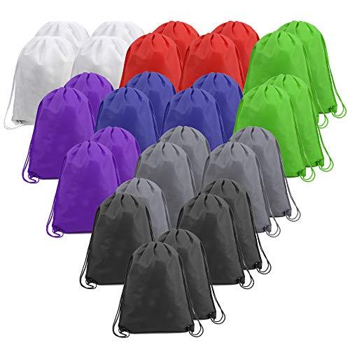 30 Stück Cinch-Taschen mit Kordelzug, biologisch abbaubarer Kordelzug-Rucksack für Männer und Frauen