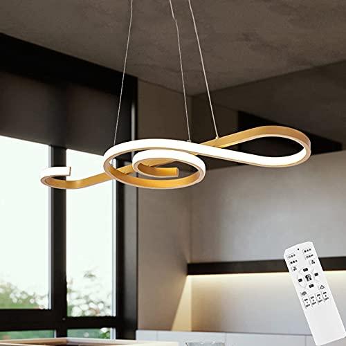 Plafoniera Lampada A Sospensione A LED con Telecomando, Lampadario Moderno A Forma di Nota Musicale...