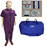 GXGX Cordón Completo CPR Manikin RESUMIÓN CARDIOPULMONARIO SIMULADOR DE Primeros Auxilios CPR Formulación de Entrenamiento, fácil de Desmontar para la enseñanza del Model