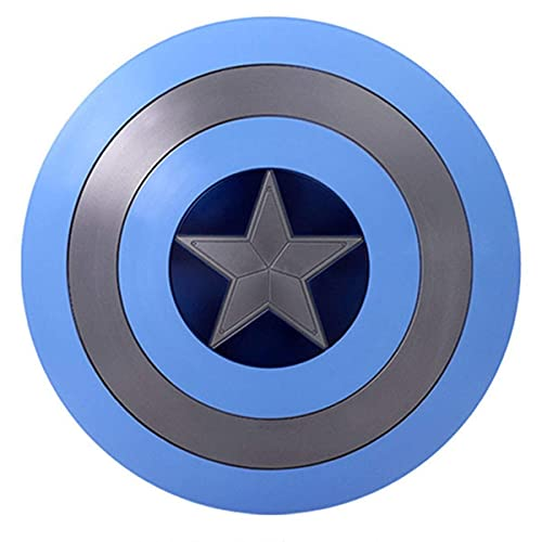 ACEMIC Captain America Kostüm Metall Shiel Avengers Miracle Legend Series Filmversion Repliken Schild Handheld Requisiten, Material, Bar Wandbehang Dekorationen 58 cm