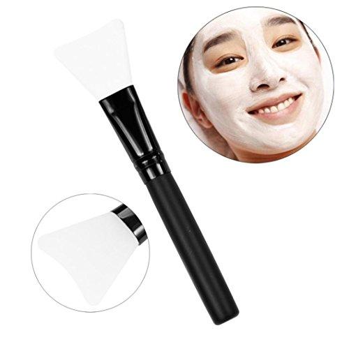 Brosse Mask,OVERMAL PoignéE En Bois Visage Facial Masque De Boue MéLange De Brosse CosméTiques Kit De Maquillage (Clair)