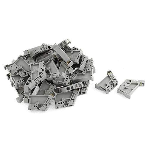 WFBD-CN Batterieklemmen 50Pcs 35mm DIN-Schienen-Klemmenblock Endstopper Montageclips