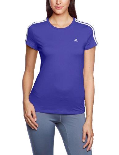 adidas Damen T-Shirt Essentials 3S Tee, Blast Purple F13/White, XS, G80765
