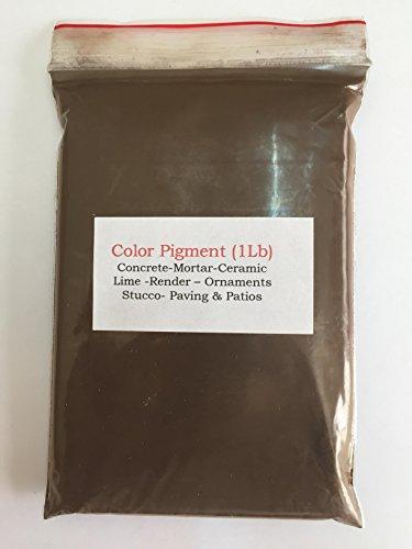 Chocolade bruin donker (1Lb) pigment/kleurstof voor beton, gips, hout, metaal, keramiek, muurverf, baksteen, tegels, render,aanwijzen,mortel e.t.c