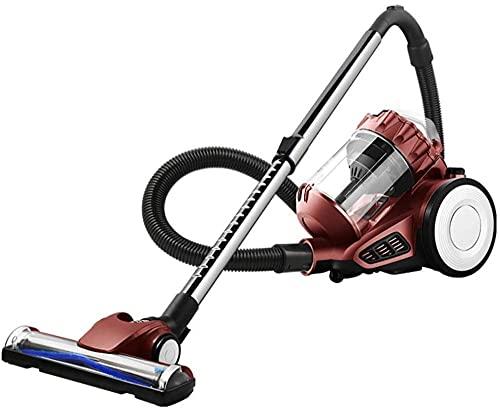 JTN Aspiradora sin bolsa de alta potencia Killing mute Aspiradora de alfombras 1400w 220v-marrón (color: marrón)