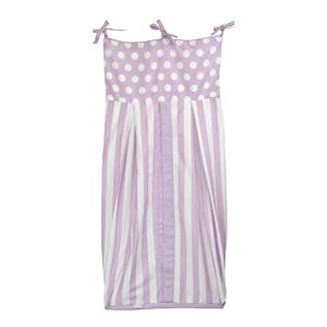 Tadpoles Dot and Stripe Diaper Stacker, Lilac