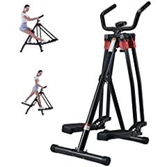 A & DW Mini Elliptical Trainer, Hem Motion Vikbar Fitness Utrustning, Ben Arm Styrka Trainer Goes Running Machine Motion Air Walker