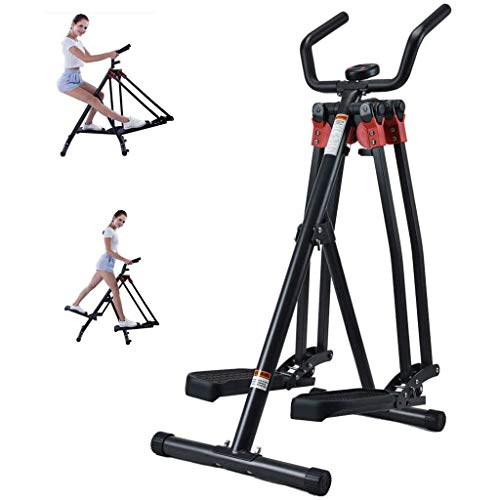 AIYLY Mini Elliptical Cross Trainer,Home Exercise Foldable Fitness Equipment,Leg Arm Strength Trainer Walking Running Machine Exercise Air Walker