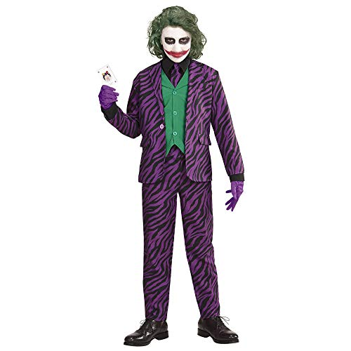 Widmann Evil Joker voor kinderen, 140 cm / 8-10 jaar, VD-WDM19317