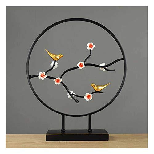 JXXDDQ Nuevo Arte Chino Decoración De Pájaros Y Flores Decoración Del Hogar Artesanía Decoraciones Sala De Estar Vinoteca Escritorio Artesanía Regalos (Color : B, Size : Small)
