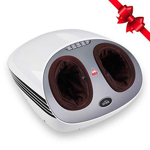 SIMBR Massaggiatore Piedi Shiatsu Pedana Massaggio Plantare Elettrico,2 Modalità e 3 Intensità con Airbag,Favorire la Circolazione Sanguigna,Perfetta per Casa e Ufficio