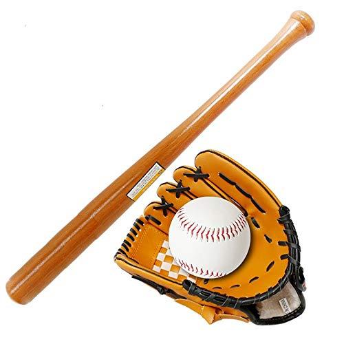 Quskto Baseball handschoenen, jeugd honkbal handschoenen combo set Pitcher handschoenen 25 inch honkbal vleermuis en honkbal sportuitrusting met tas voor vrouwen en mannen flexibel knuffelen de hand