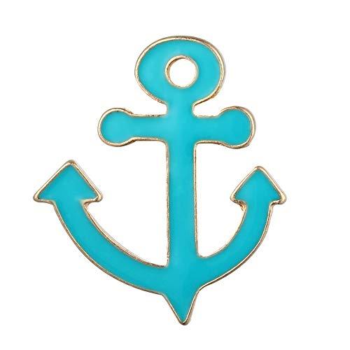 Null Karat Brosche Anstecker Anstecknadel Pin Anker Hamburg Anchor