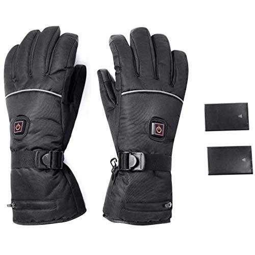HMSDERT6YHW5RTG Elektrische Beheizbare Handschuhe Winterhandschuhe Batterie Beheizt Skihandschuhe für Herren Damen Reiten Laufen Skifahren...