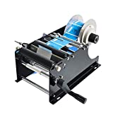 Bespick Manual Round Bottle Labeling Machine 30pcs/min Adjustable Bottle Labeler Self-Adhesive Labeler Applicator with Handle Round Bottle Labeling Machine for Glass and Metal Bottle
