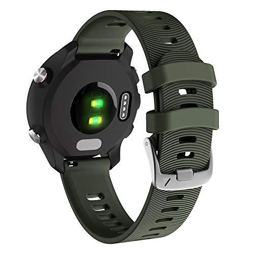 YOOSIDE für Garmin Vivoactive 3 Armband,20mm Silikon wasserdicht Ersatzarmband Uhrenarmband für Garmin Vivoactive 3 Music, Forerunner 645/645 Music,Vivomove HR (Grün)