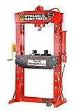 Pro-Lift-Montagetechnik 50t Werkstattpresse, Manuell und Pneumatisch, Rahmen geschweißt, rot, 01438