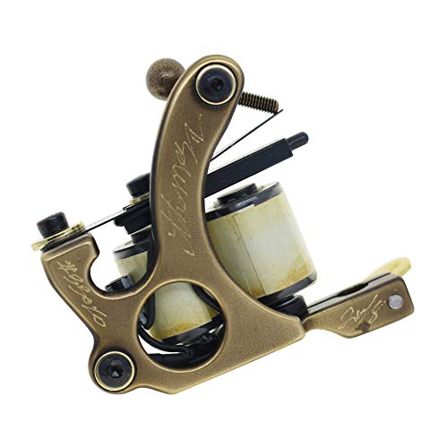 Thomas Coil Tattoo Machine Tattoo Gun Handmade Brass Frame 10 Wrap Coils (Shader)