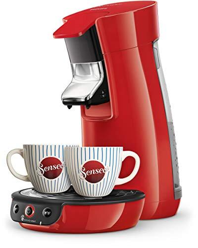Senseo® Viva CAF HD6563/88 Kaffeepadmaschine Rot Höhenverstellbarer Kaffeeauslauf