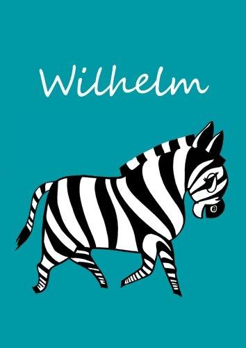 Malbuch / Notizbuch / Tagebuch - Wilhelm: DIN A4 - blanko - Zebra